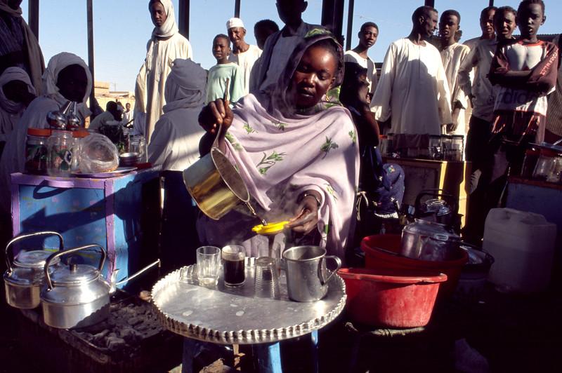 Markt in Karthoum beim cafe