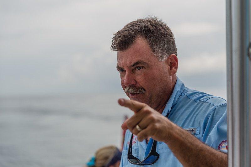 Scott Harris, President of the Andrew Red Harris Foundation. talks about the deployment of 100 artificial reef modules of the coast of Jupiter, Florida on Monday, August 8, 2016. (Joseph Forzano / The Palm Beach Post)