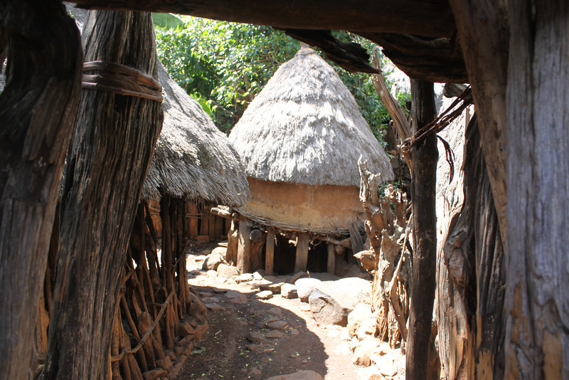 Konso village path