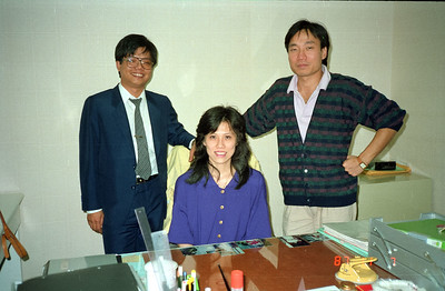 Henry Fan and two of his office staff members.