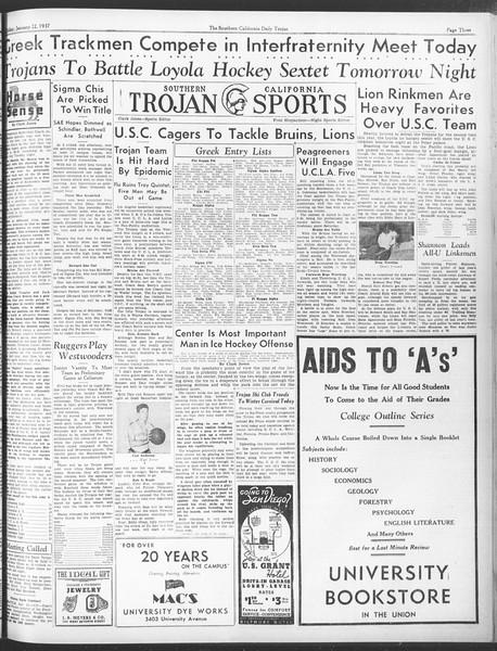 Daily Trojan, Vol. 28, No. 72, January 22, 1937