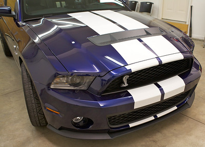 2010 Blue Ford Mustang Shelby GT500