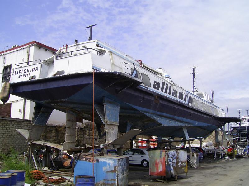 ALIFLORIDA laid up and hauled in Napoli.