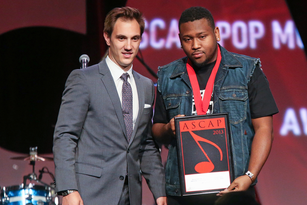 ". Matthew ""BOI 1DA\"" Samuels receives an award on stage during the 30th Annual ASCAP Pop Music Awards at Loews Hollywood Hotel on April 17, 2013 in Hollywood, California.  (Photo by Paul A. Hebert/Getty Images)"