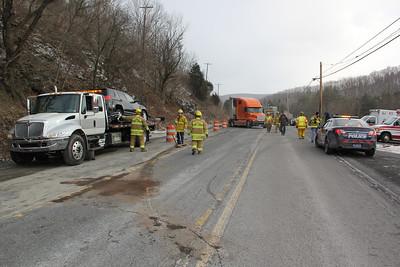 Tractor Trailer's Collide, SR309, West Penn (2-20-2013)