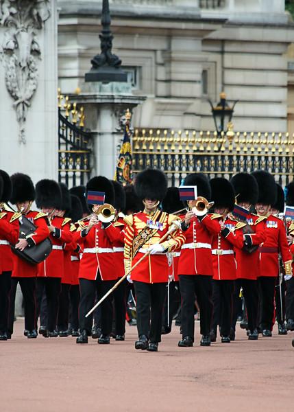 Changing The Guard At Buckingham Palace, London