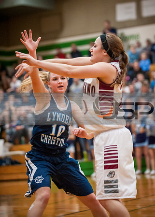 2015-2-28 Lynden Christian Girls at Montesano Basketball - Varsity