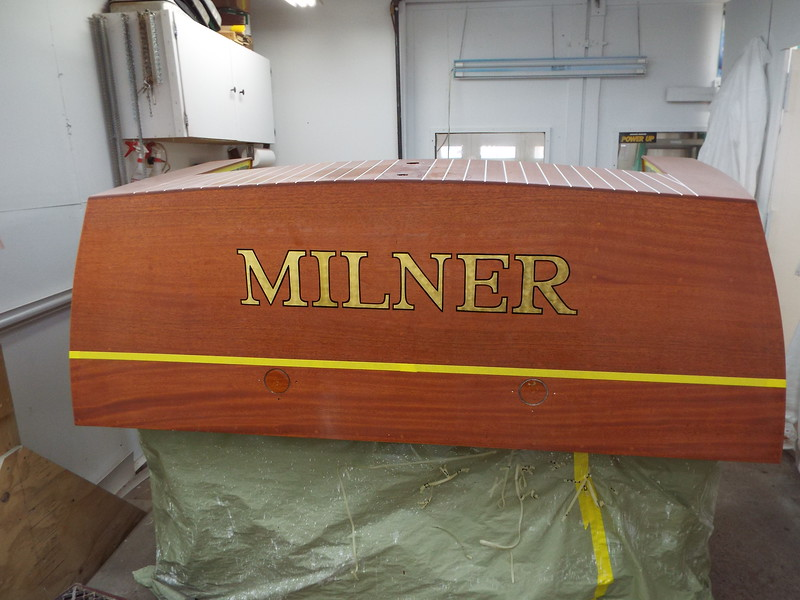 Lettering completed on the love seat.