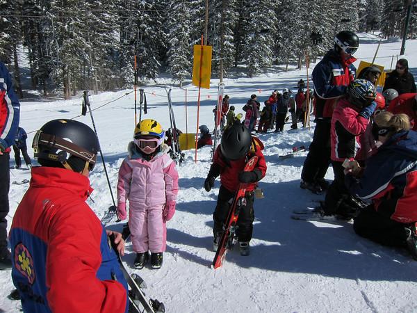 Owen's first ski lesson