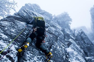 03 01 Winter climbing Spominska smer Cerin Miran