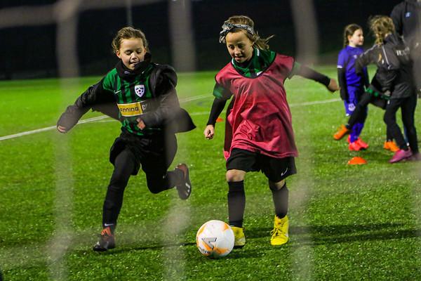 Winsford Diamonds Girls training with Sandy MacIver Everton Ladies 7-2-20