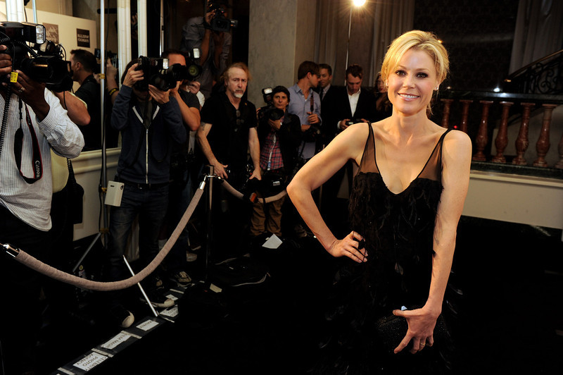 ". Actress Julie Bowen arrives at ""An Evening\"" benifiting The L.A. Gay & Lesbian Center at the Beverly Wilshire Hotel on March 21, 2013 in Beverly Hills, California.  (Photo by Kevin Winter/Getty Images)"