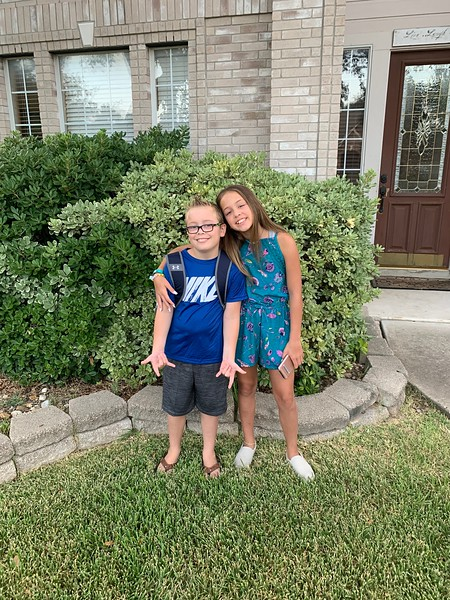 Bella & Gavin | 7th grade and 4th grade | Cedar Park Middle School & Naumann