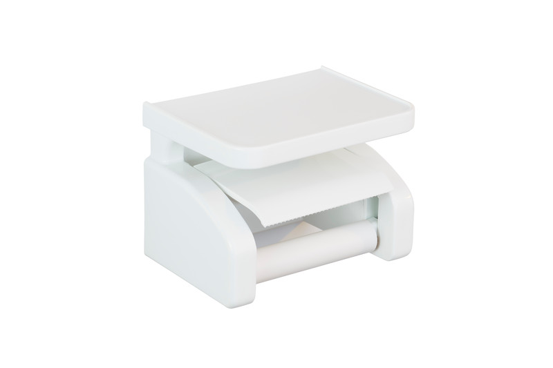 Gelmar Perma Power Suction Toilet Paper Holder White