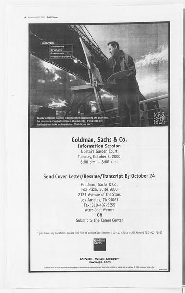 Daily Trojan, Vol. 141, No. 22, September 28, 2000