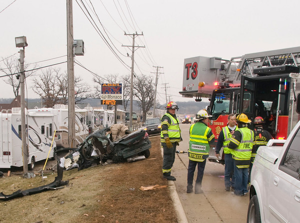 Bartlett January 4, 2009 - Vehicle roll over on Rt. 20 west of 59