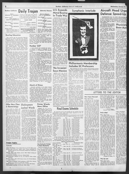 Daily Trojan, Vol. 32, No. 72, January 15, 1941