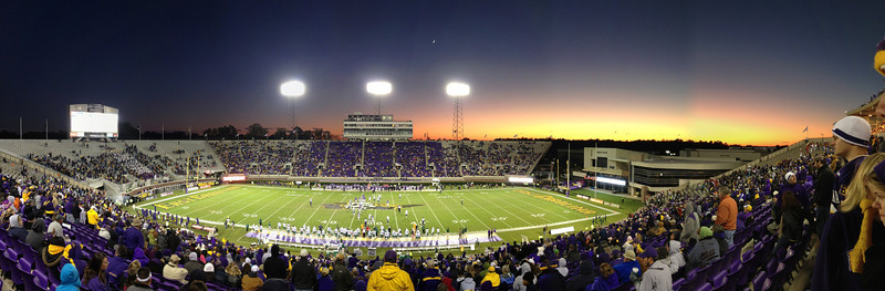 10/29/2011 ECU vs. Tulane (Homecoming) - Sunset on Dowdy-Ficklen Stadium