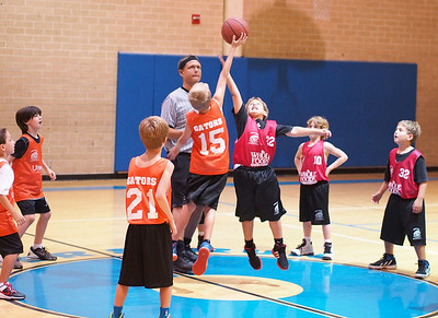 2012-10-13 - Dylan's basketball game - hits free throws to go to overtime