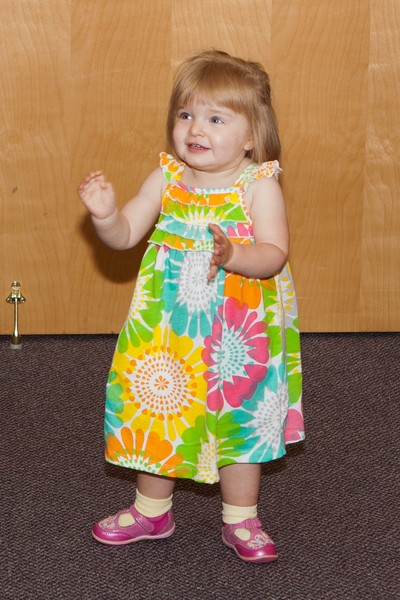 Kaitlyn (Abby's sister) dances to the music.