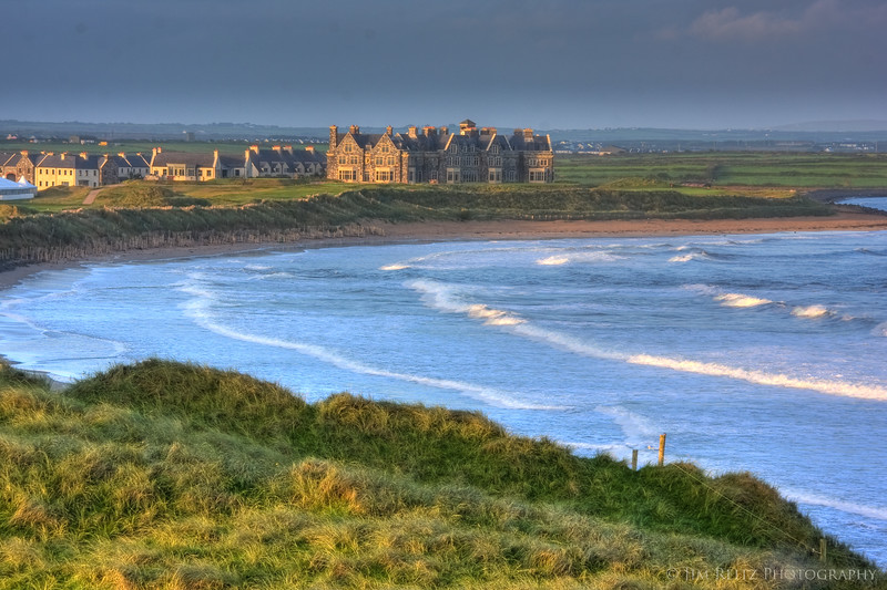 View of Doonbeg Lodge from the course.