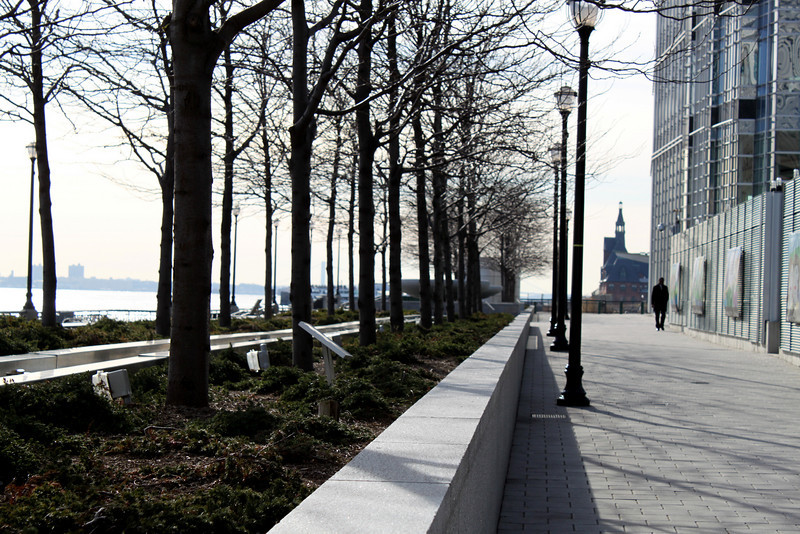 walkway by the waterfront.