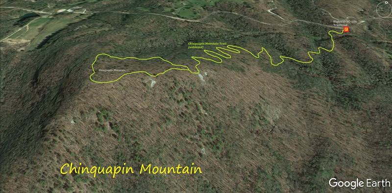 Chinquapin Mountain Hike Route Map