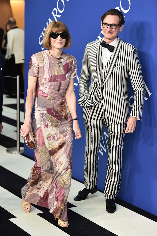 . Anna Wintour, left, and Hamish Bowles arrive at the CFDA Fashion Awards at the Brooklyn Museum on Monday, June 4, 2018, in New York. (Photo by Evan Agostini/Invision/AP)