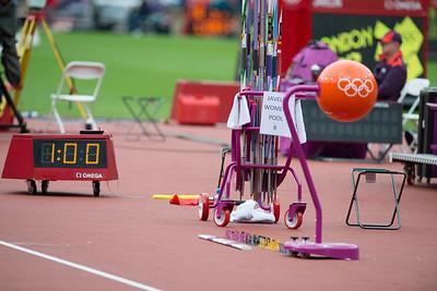 Women javelin qualification 7.8.2012