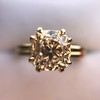 Spilt Prong Yellow Gold Solitaire Mounting, by Stuller 10