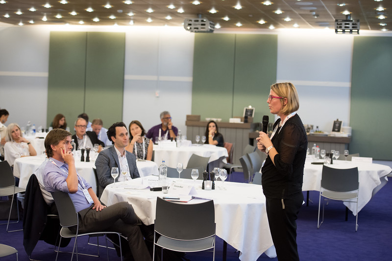22nd International AIDS Conference (AIDS 2018) Amsterdam, Netherlands   Copyright: Marcus Rose/IAS  Photo shows: ILF Roundtable. Rapid Access to New Technology and Reaching the Unreached. Speaker: Catharina Boehme