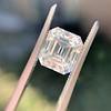 3.10ct Vintage Emerald Cut Diamond, GIA H VS1 16