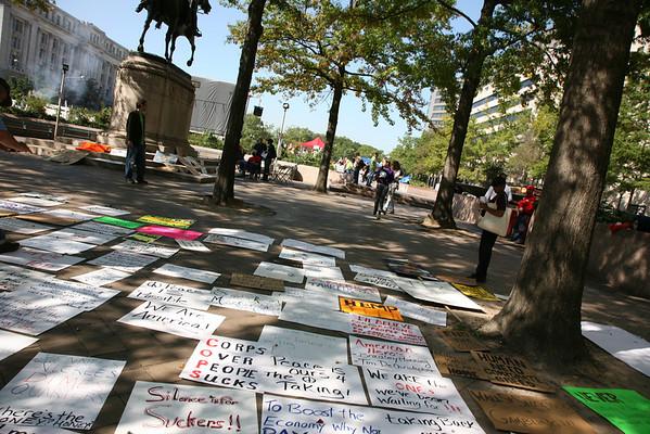Freedom Plaza Washington D.C. Oct. 8, 2011