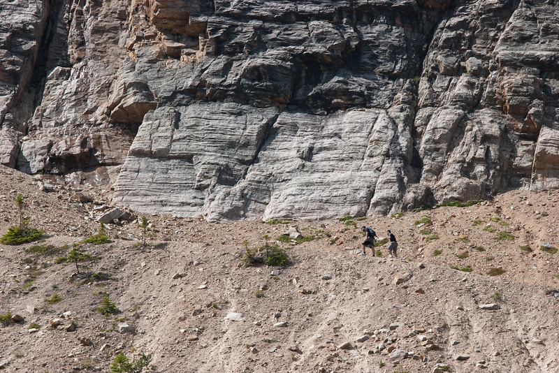 Hikers on the Opposite Moraine
