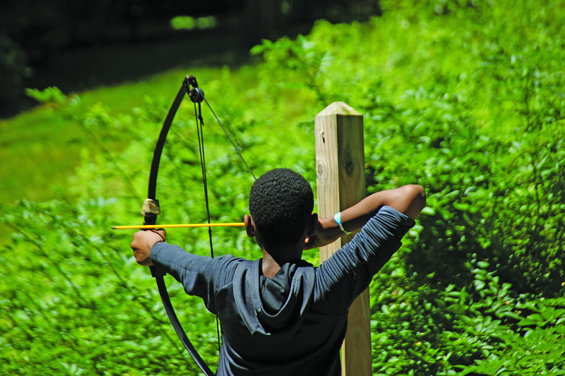 The Channel 3 Kids Camp in Andover provides children with a wide variety of activities, including archery lessons. Courtesy of Melissa Shea