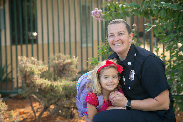 Abby's 1st day of Kindergarten at Village School in Campbell, CA