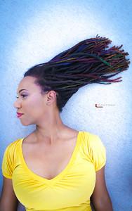 Rainbow Lady In The 5280, Model Cydnie O.