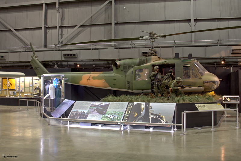 National Museum of the United States Air Force, Dayton, Ohio,   04/13/2019  Bell UH-1P Iroquois C/N 7026  64-15476  This work is licensed under a Creative Commons Attribution- NonCommercial 4.0 International License.