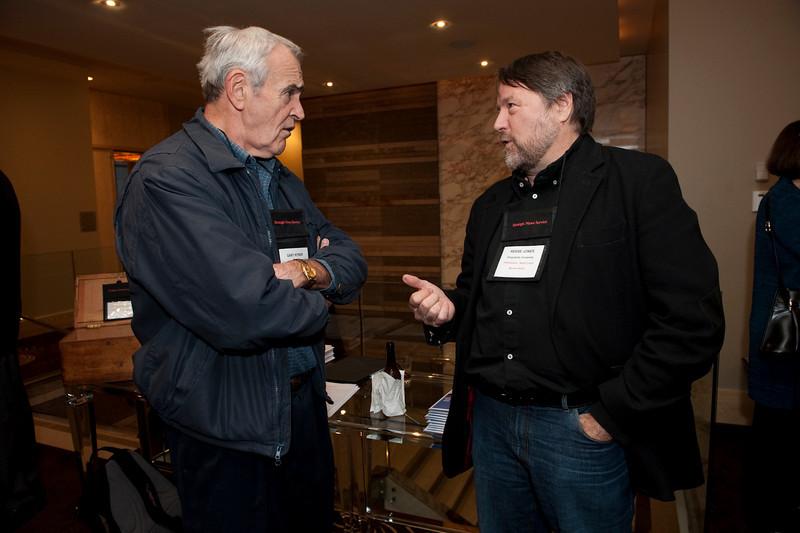 FiReStar Reception: Gary Ritner (L), President, Ritner & Company; and Reese Jones, Trustee, Singularity University