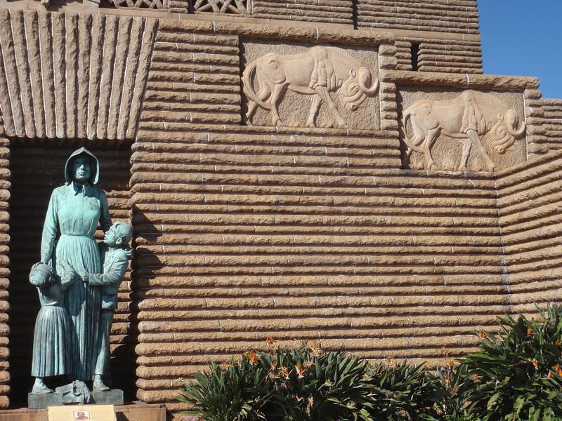 011_Pretoria. The Voortrekker Monument. Commemorating the Great Trek. 15,000 Pioneers. 1835-1854.JPG