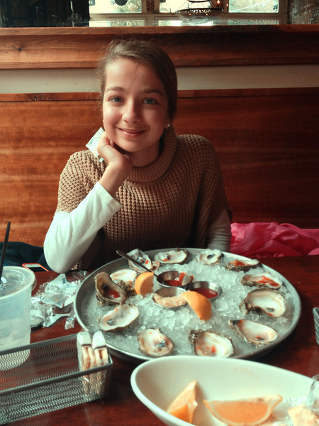 Kitty loves raw oysters!