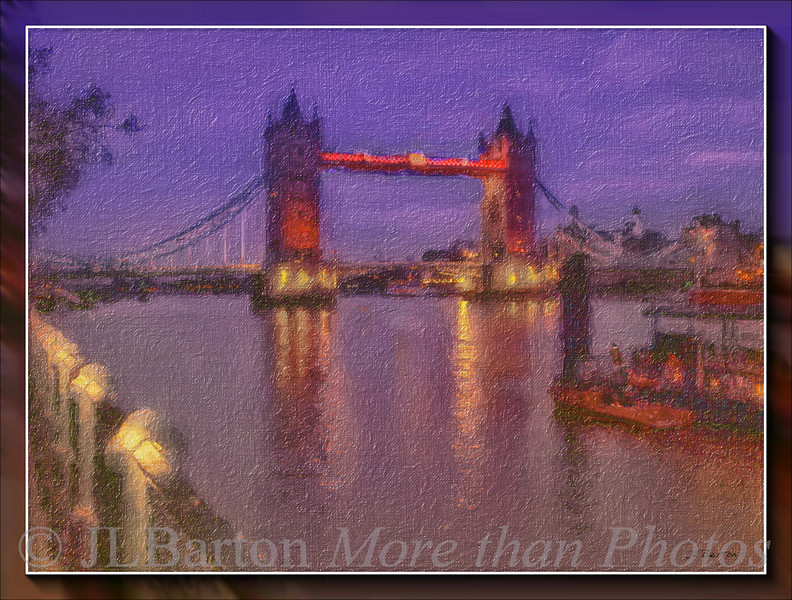 Tower Bridge, London after dark in July 2003