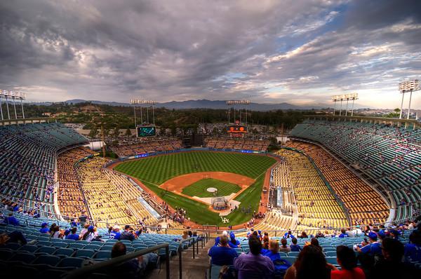 shots around Dodgers Stadium