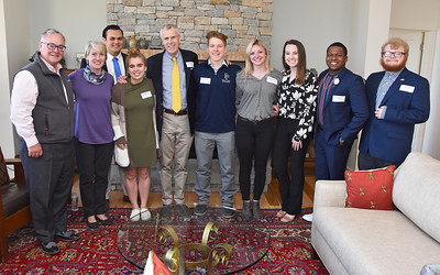 Fitzwater Fellow Richard T. Griffiths' Lunch w/ Students at Pearly  House 4-16-19