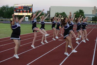 JV cheer Mesa football game