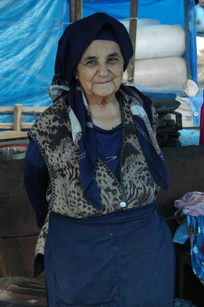Smiling Elderly Vendor - Ismaili, Azerbaijan