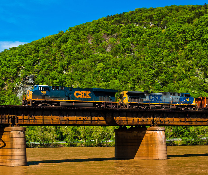 Train Crossing Potomac River, Harper's Ferry, WVA
