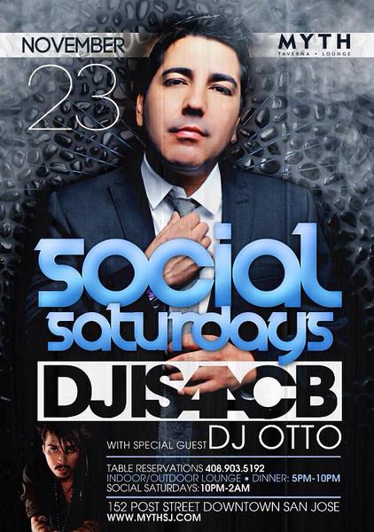 Social Saturdays feat. Isaac B @ Myth Taverna & Lounge 11.23.13