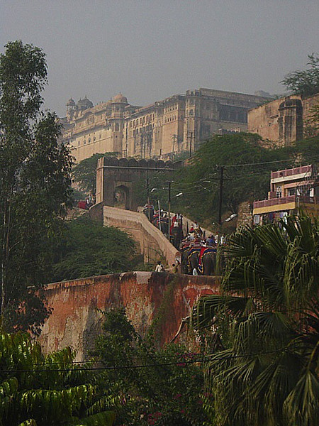 the route to the Amber Fort and Palace, Jaipur