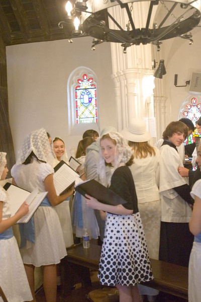 Choristers in preparation023